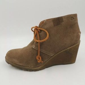 Sperry Stella Prow Leather Brown Ankle Boot 8.5